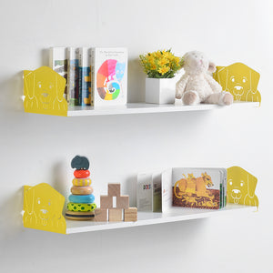 Funimal Nursery Floating Shelves (2-Pack), Dog Decorative Bracket