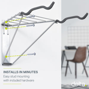 Two Bike Wall Mount Rack with Shelf