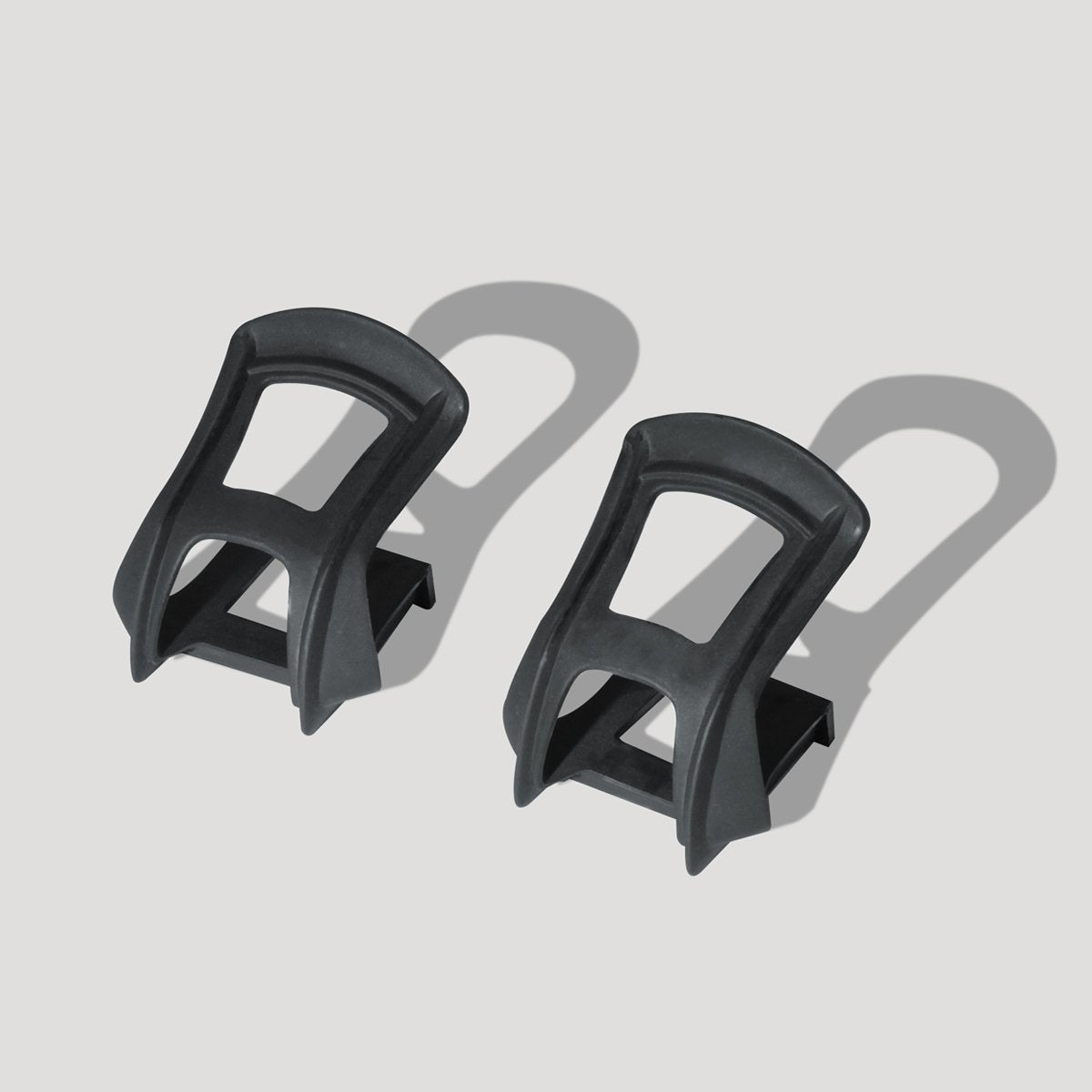 1 Pair Cycling Bicycle Strapless Bike Toe Clips Half Clips with Fittings Peda/_ti