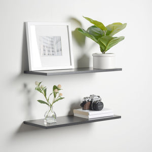 Slim Floating Shelves (2 Pack) Black .5 Thick 2 Sizes Available Shelving