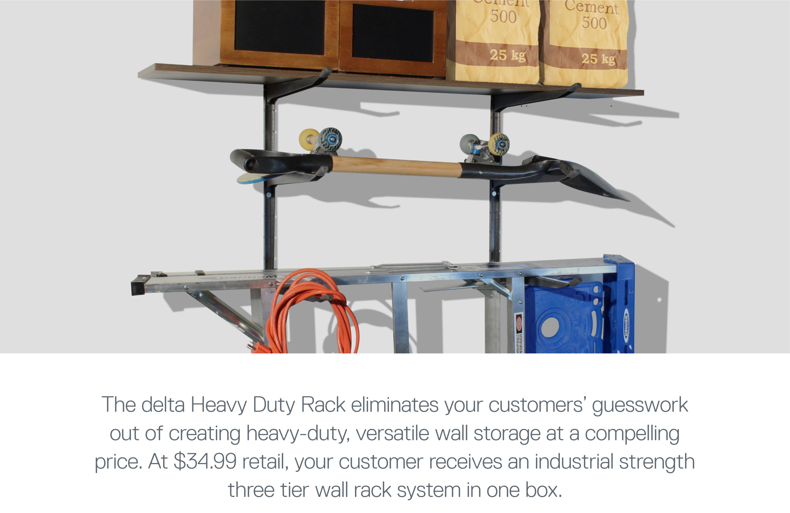 Heavy Duty Wall Rack Lifestyle Image