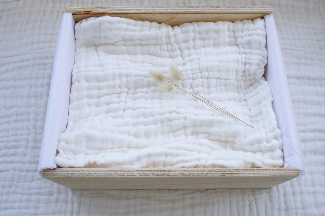 Organic Cotton Quilted Muslin Blanket