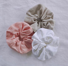 Load image into Gallery viewer, Handmade Linen Scrunchie