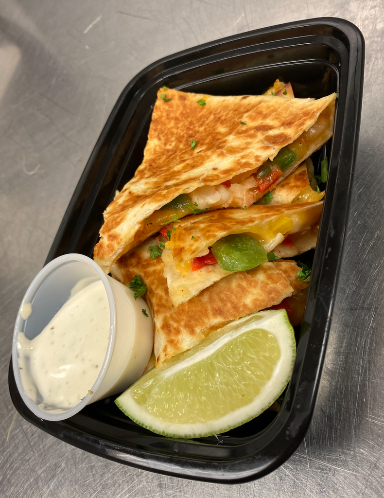 SKINNIE SHRIMP QUESADILLAS