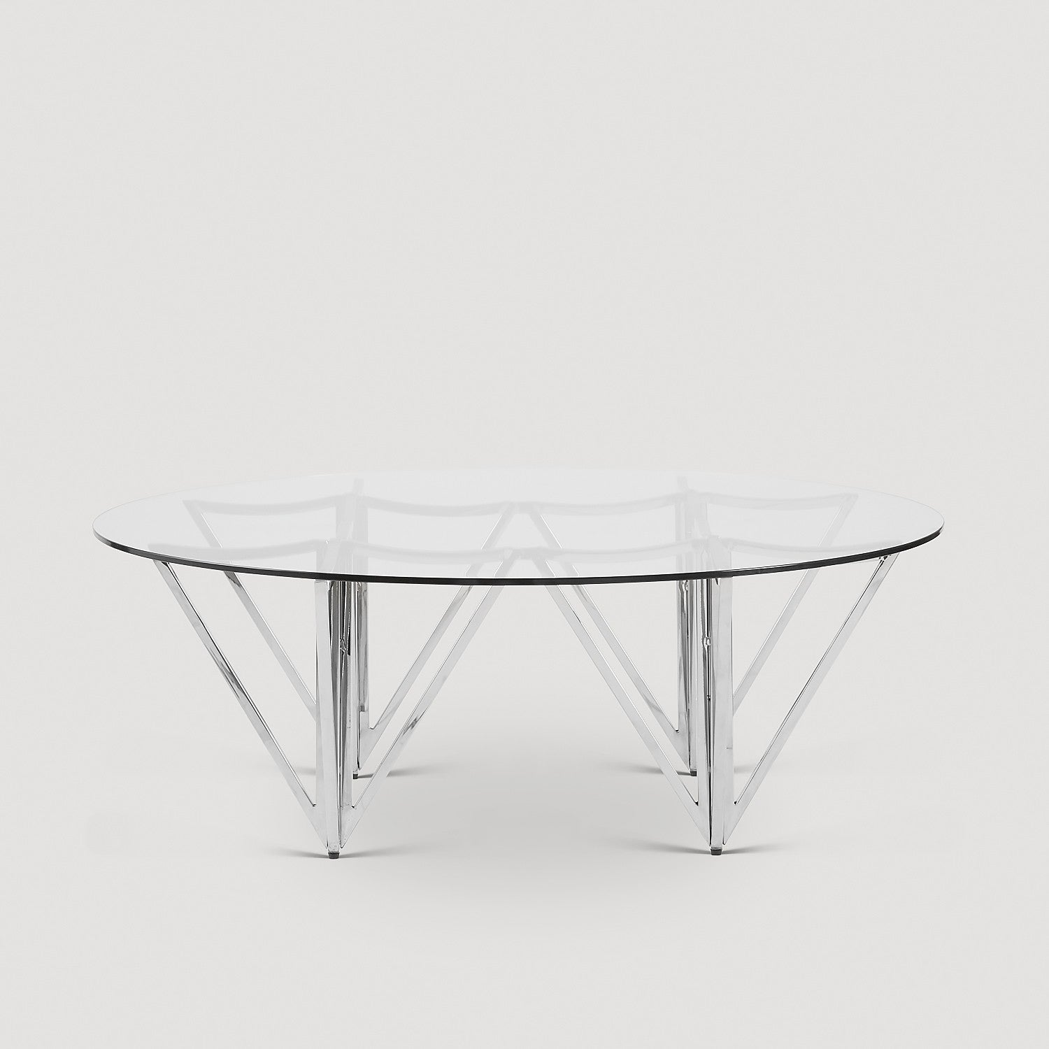 Arrow Coffee Table Silver Legs