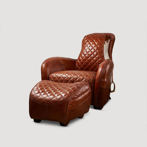 Saddle Armchair with Ottoman