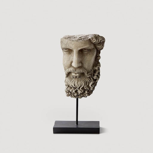 Pompeii Head on Stand White - Resin