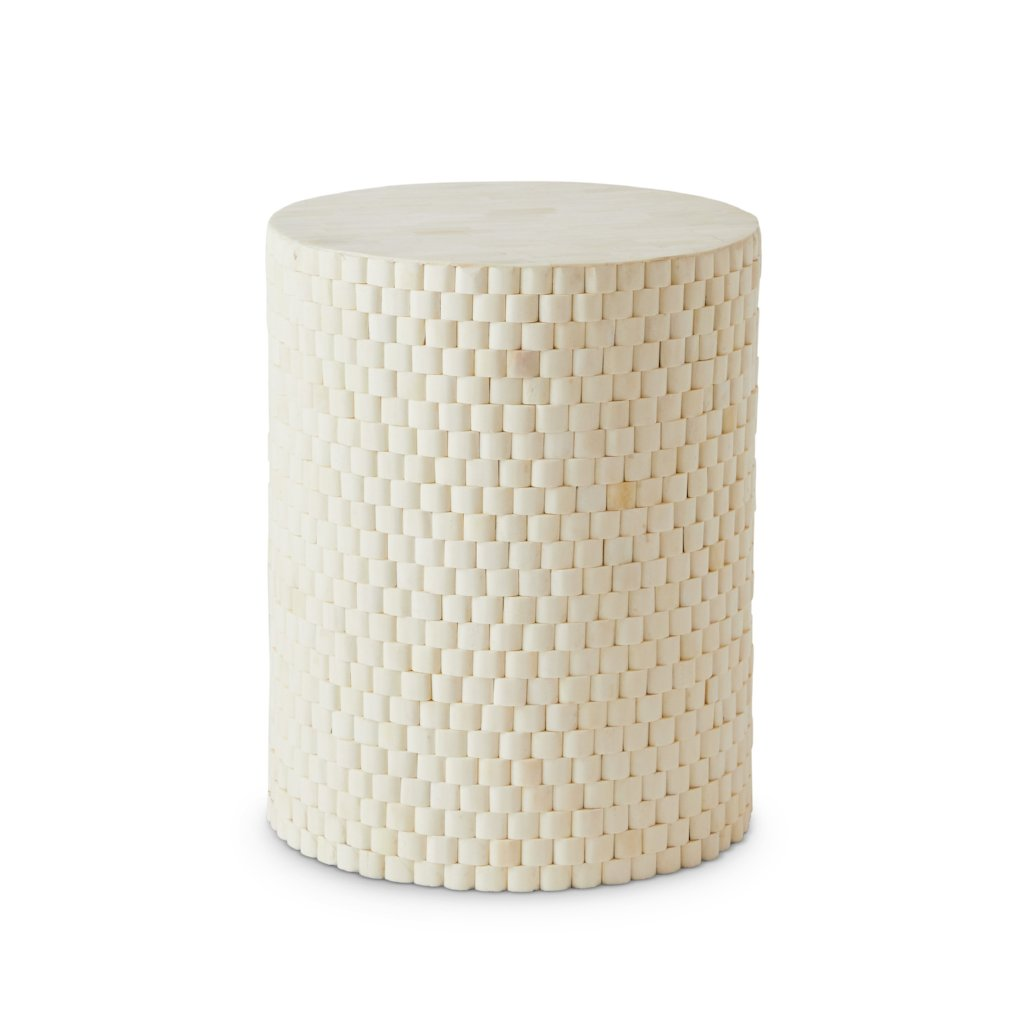 Cream cylinder side table DC
