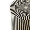 Vertical Stripe Black and White Side Table DC