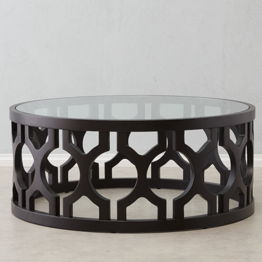 Coco glass top coffee table