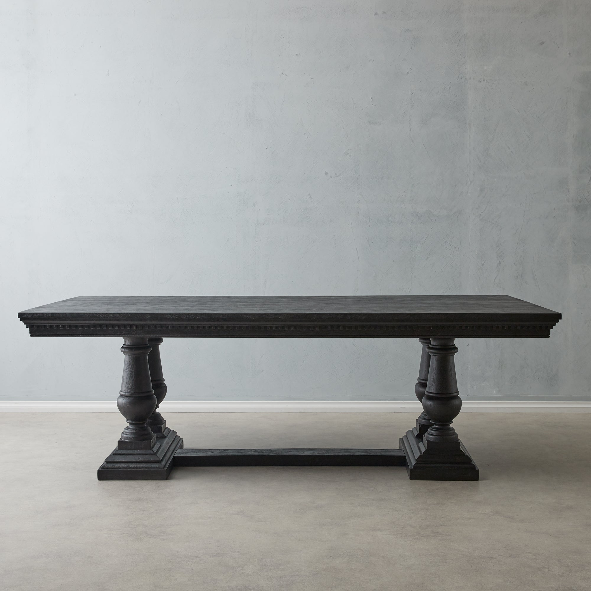 Genevieve Black Dining Table With Turned Legs Koala Living