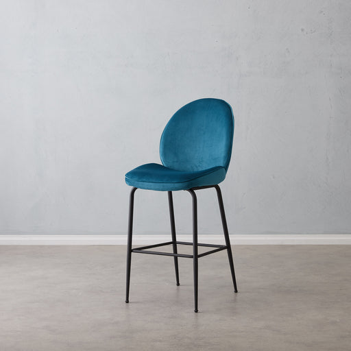 Abbey Bar Stool - Peacock Blue