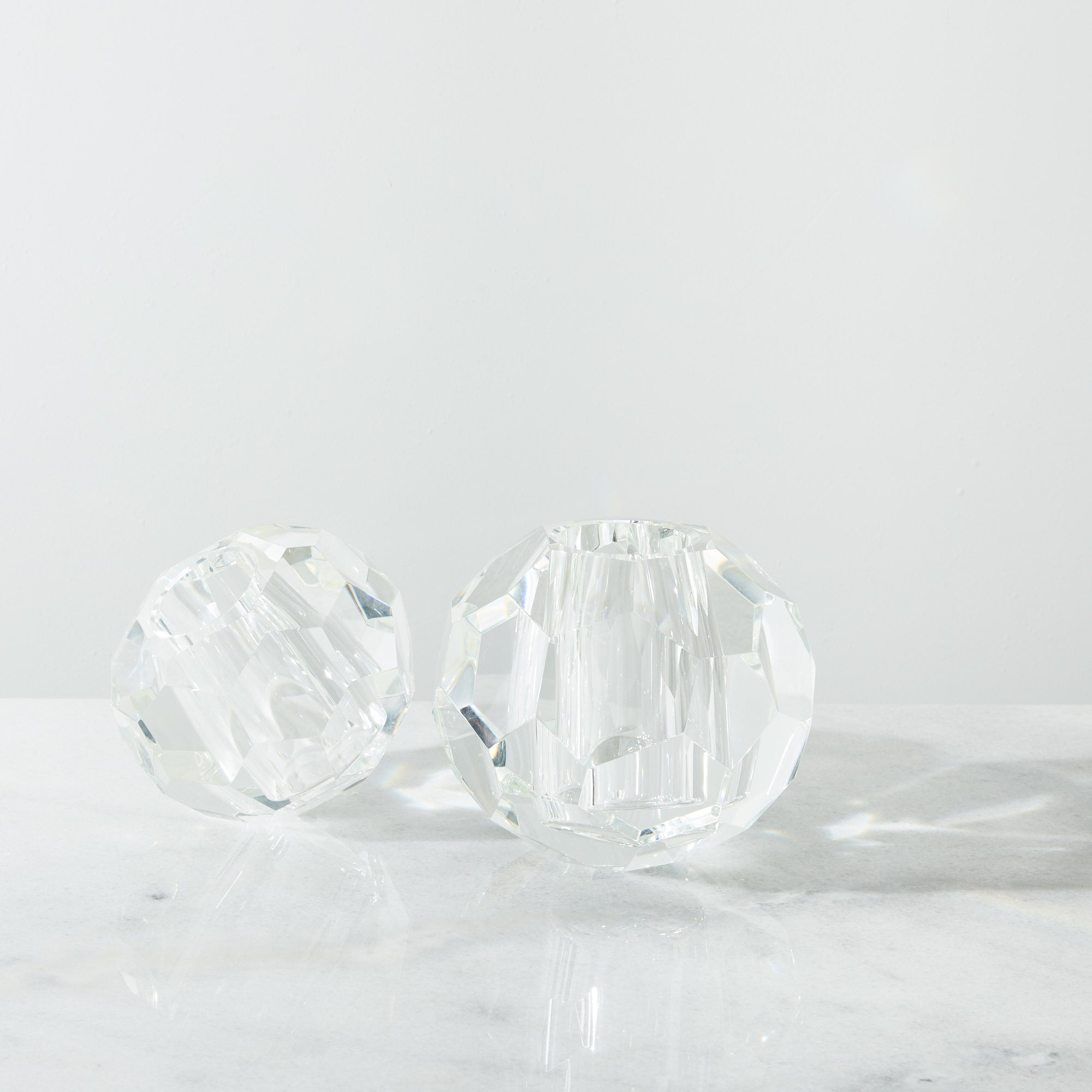Eva Large Crystal Candle Holder