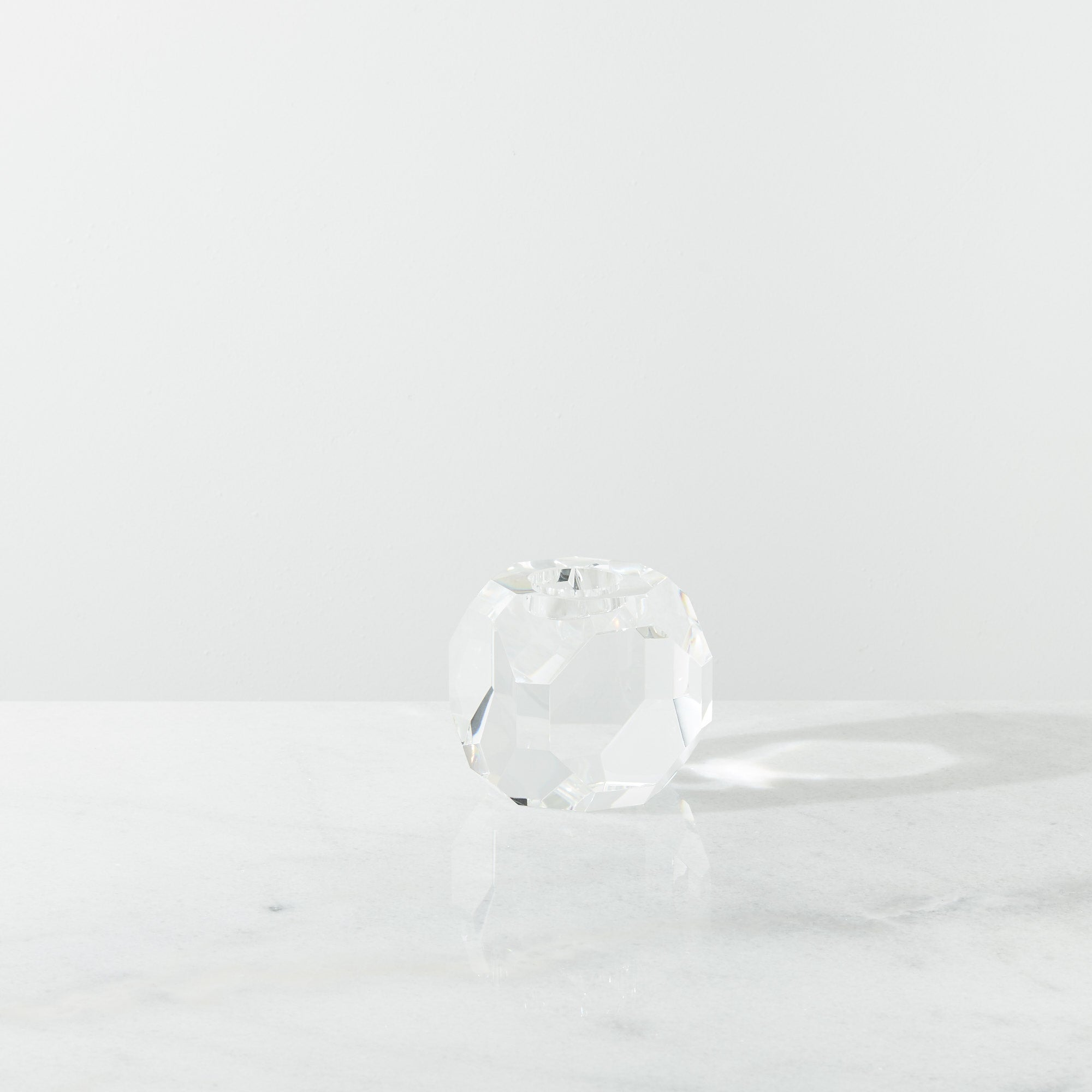 Cubic Large Crystal Candle Holder