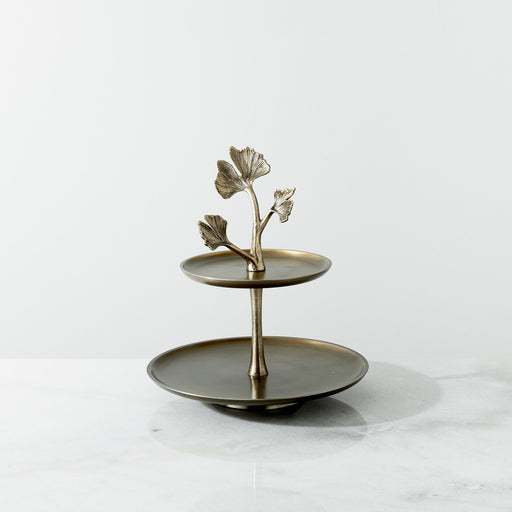 Botanical tiered cake stand