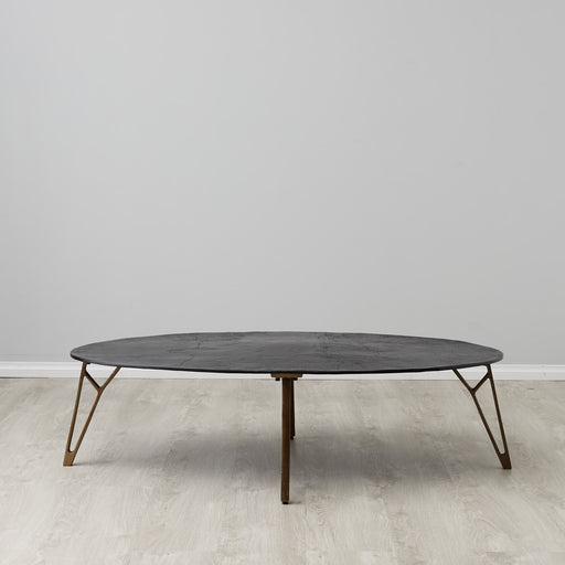 Manfred Oval bronze coffee table