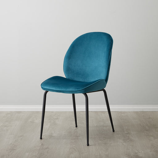 Abbey Chair - Peacock Blue DC