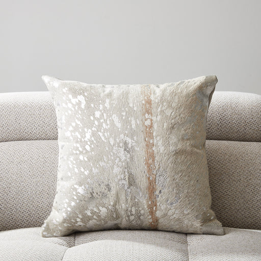 Silver Leather Cushion DC