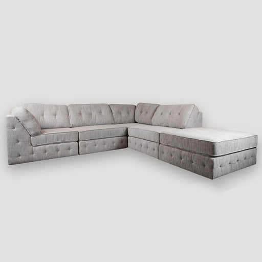 Baxter Fabric Sofa with Ottoman