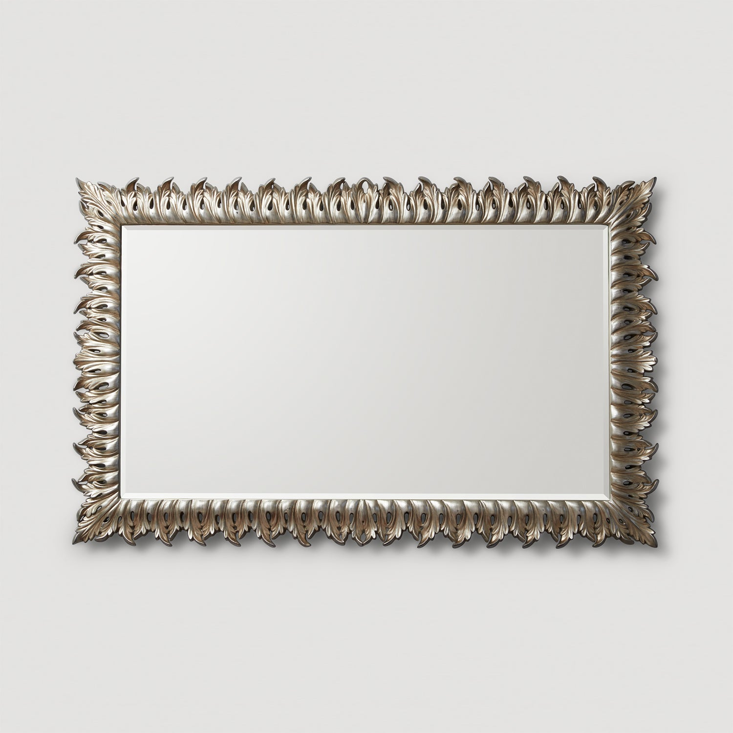 Empire antique silver mirror