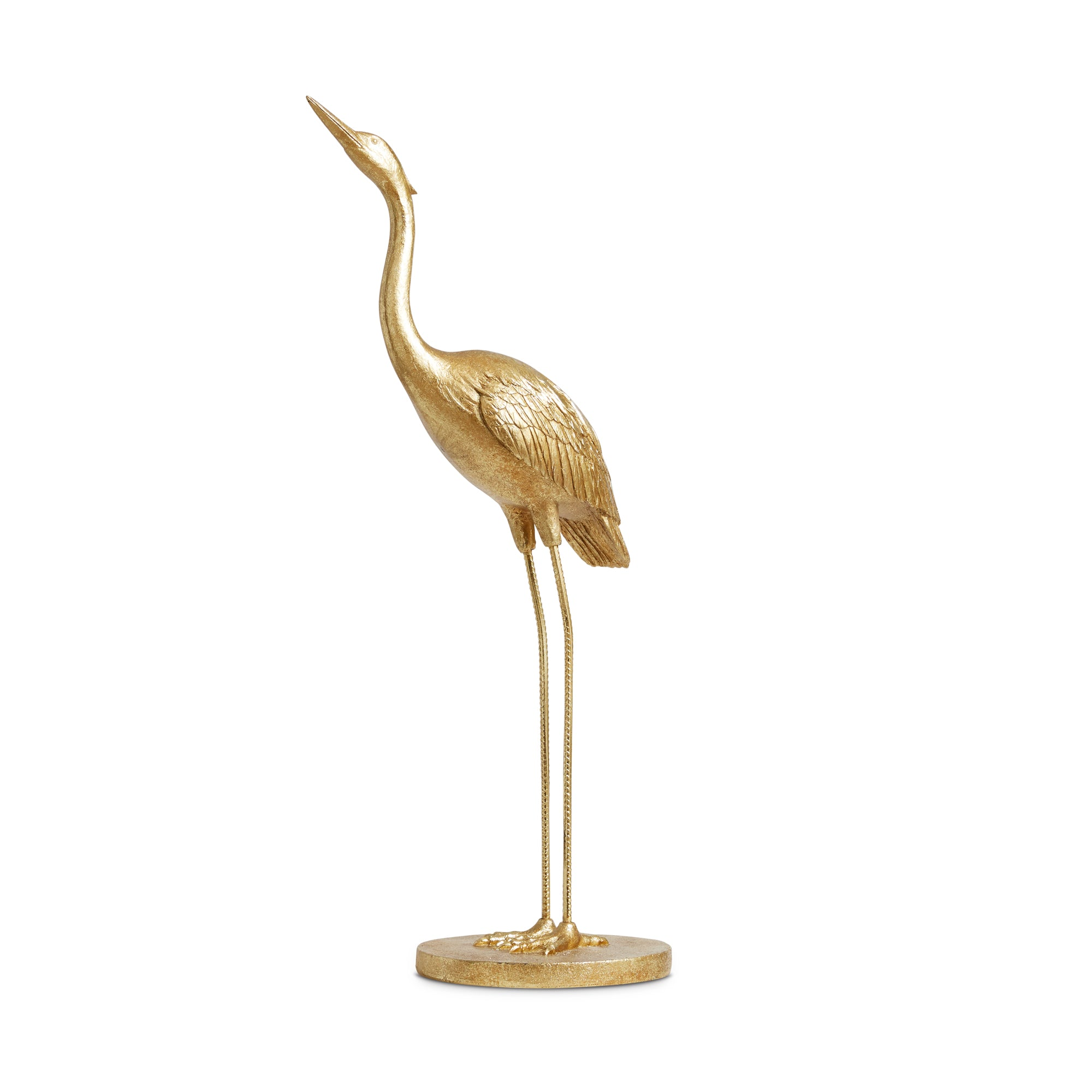 Gold heron decorative
