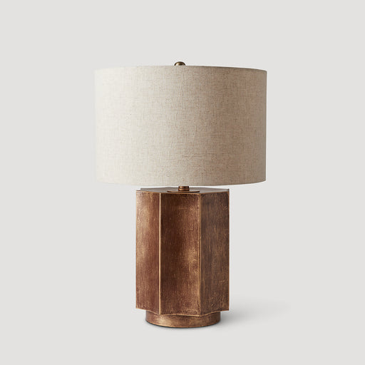 Hoja gold table lamp DC