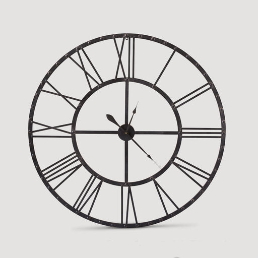 Open Cut Iron Clock