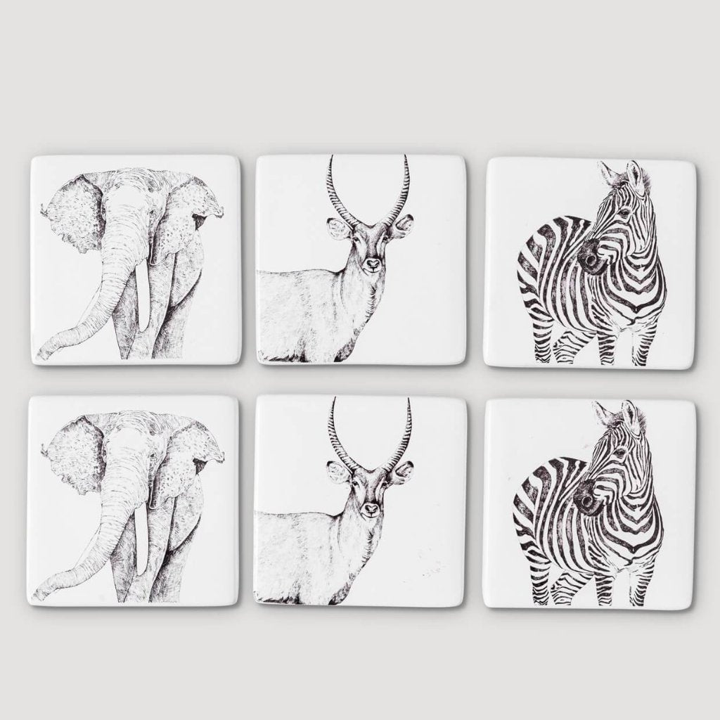 Savannah Coaster Set of 6- Dolomite