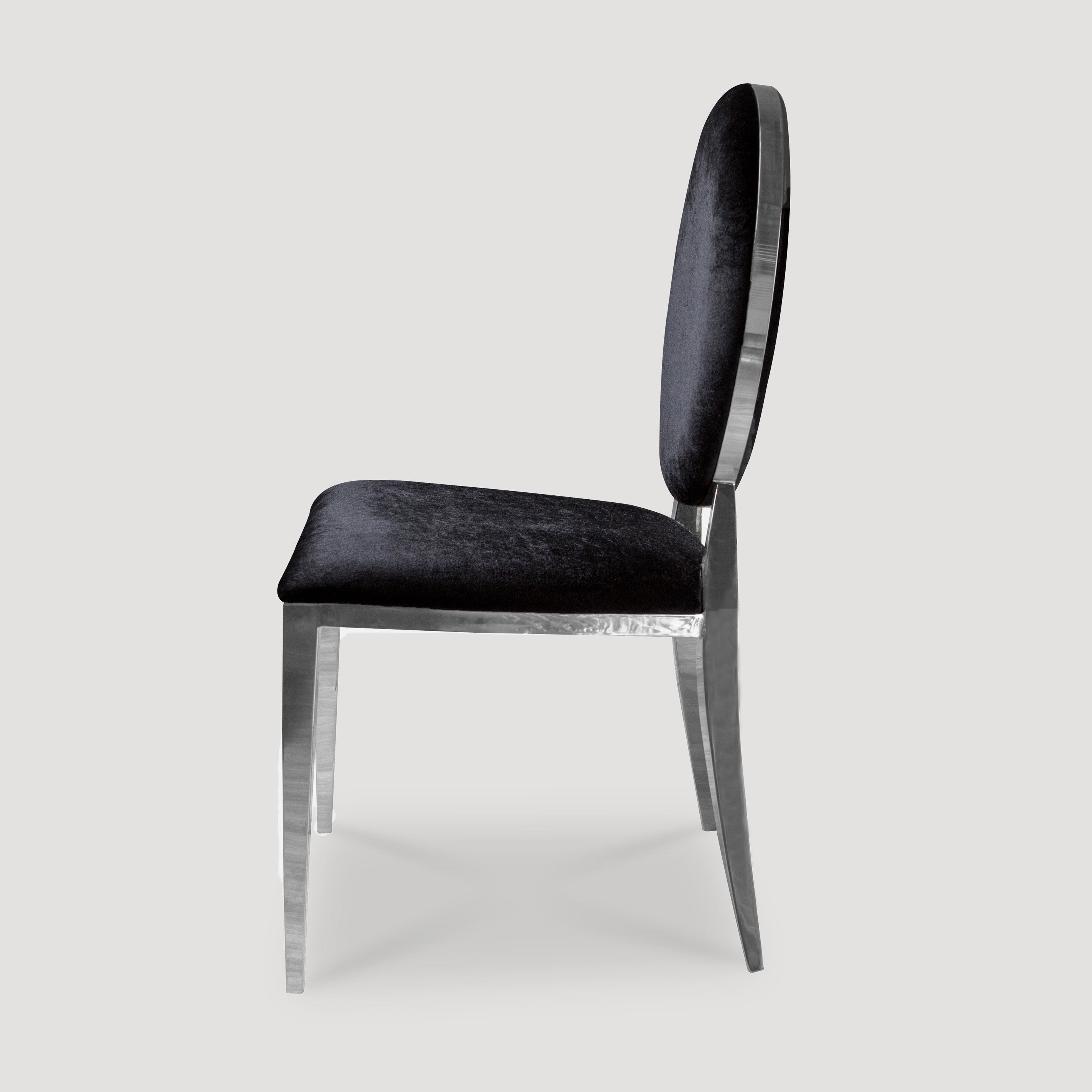 Flora Chair Black Stainless Steel