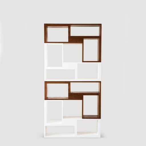 Building Block Shelf Set of 4 Pieces (2 Brown and 2 White)