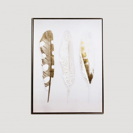Gold Feather Painting