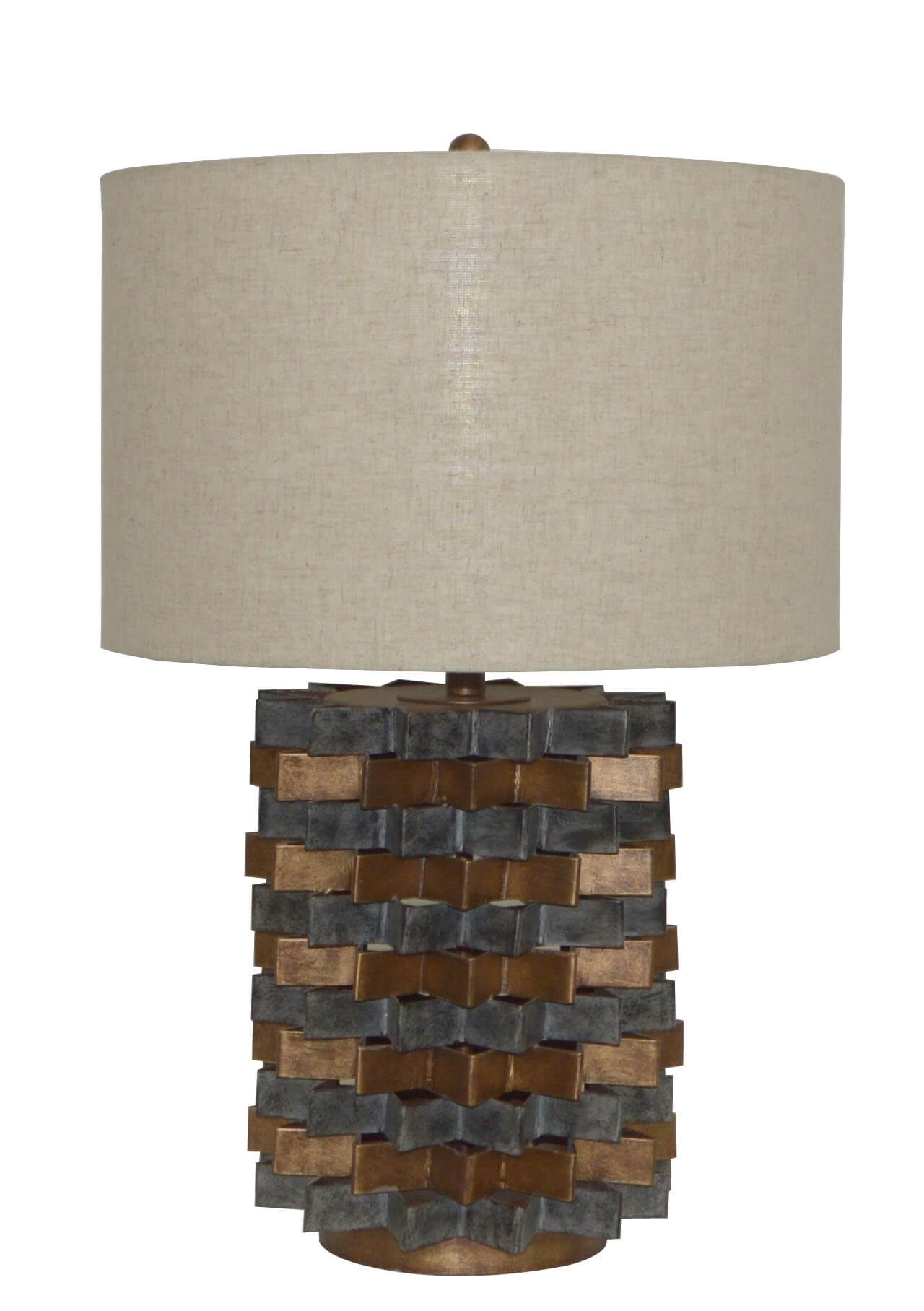 Victoria grey/ copper table lamp DC