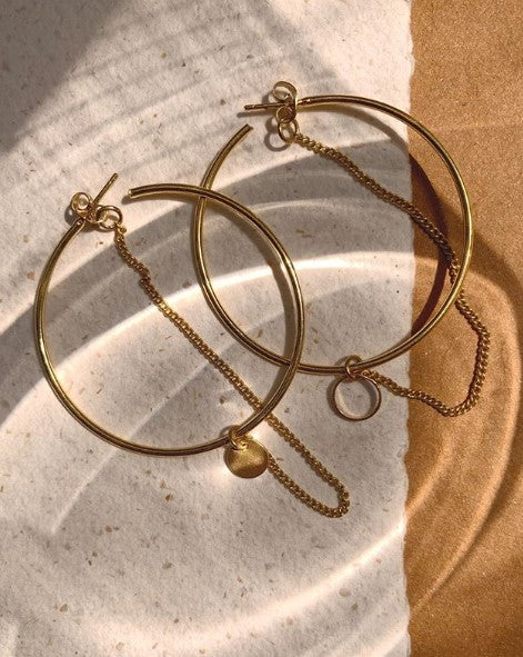Big hoop chain circle
