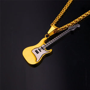 Guitar Necklace Black/Gold by Zipi - Zipi Box