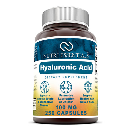 Nutri Essentials Hyaluronic Acid 100 Mg 250 Capsules