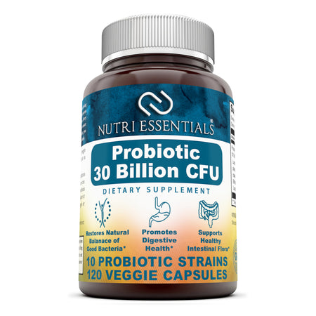 Nutri Essentials Probiotic 30 Billion With 10 Best Probiotics 120 Veggie Capsules