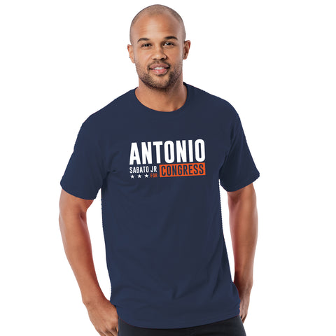 Official Antonio For Congress T-Shirt - Navy