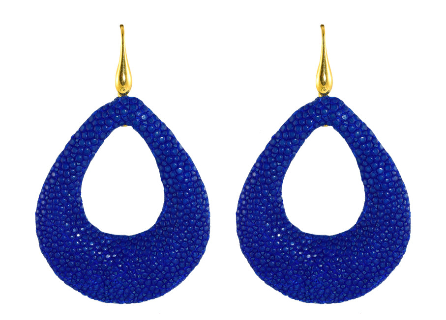 Royal Blue Open Drops | Skins Earrings