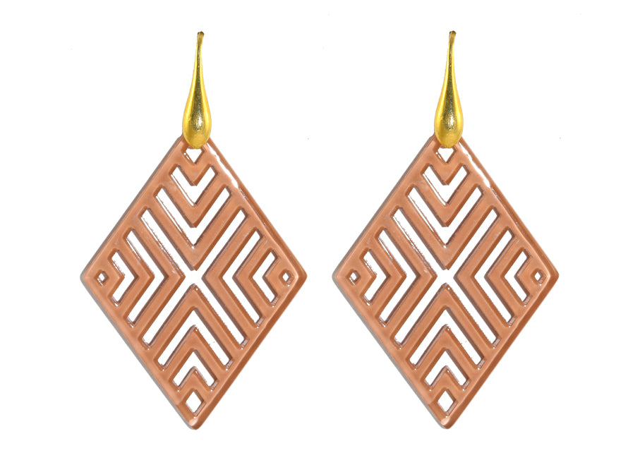 Blush Checks | Resin Earrings
