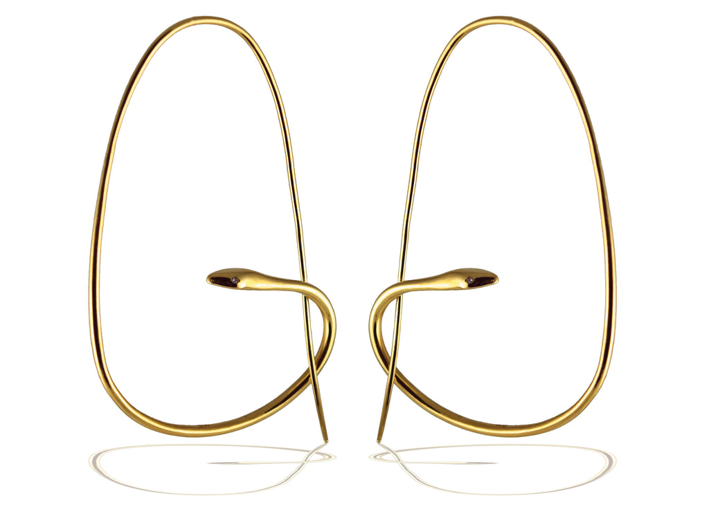 Snake Hoops | Signature Earrings