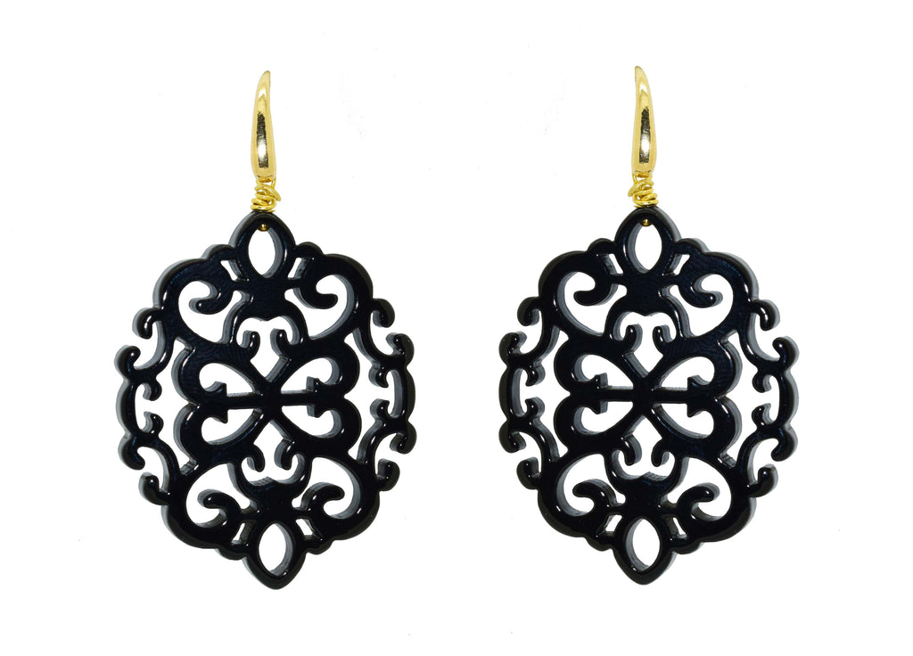 Ahlan Black| Petite | Resin Earrings