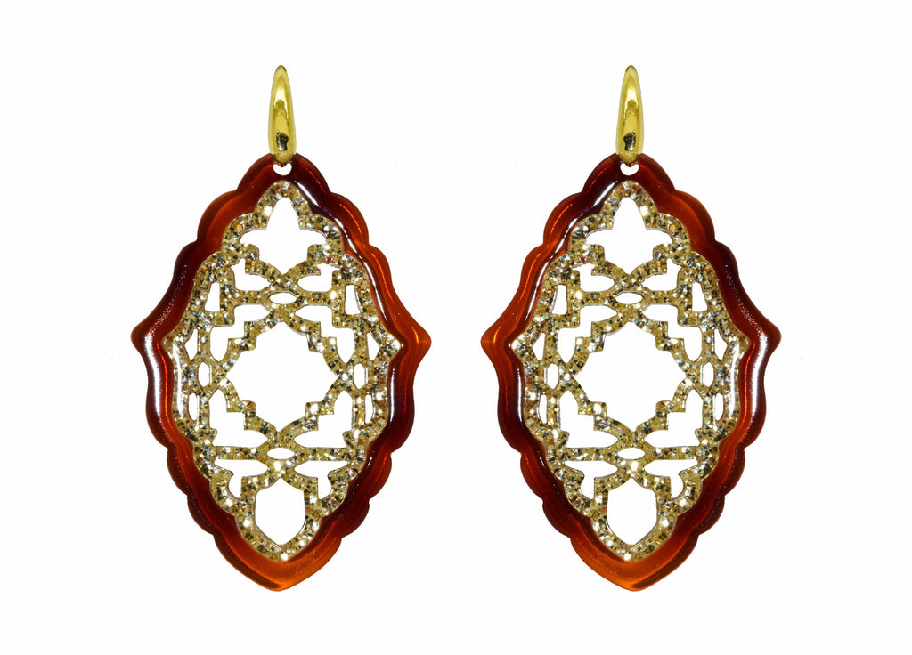 Azizi Tortoise | Petite | Resin Earrings