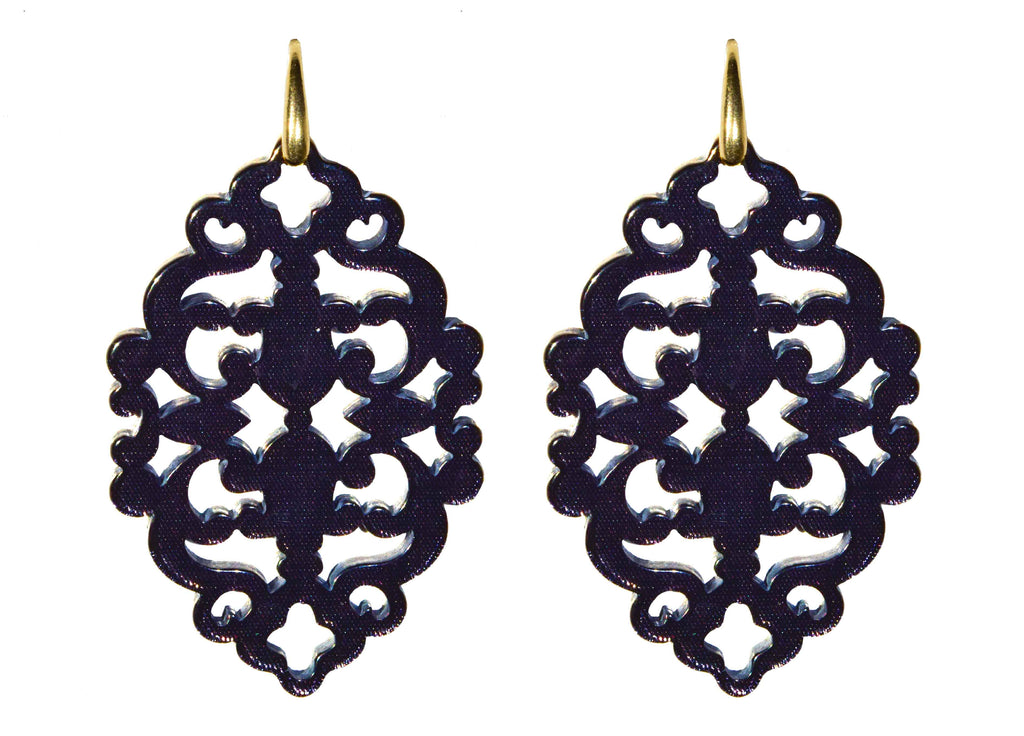 Azulejo Antracite bold | Resin Earrings