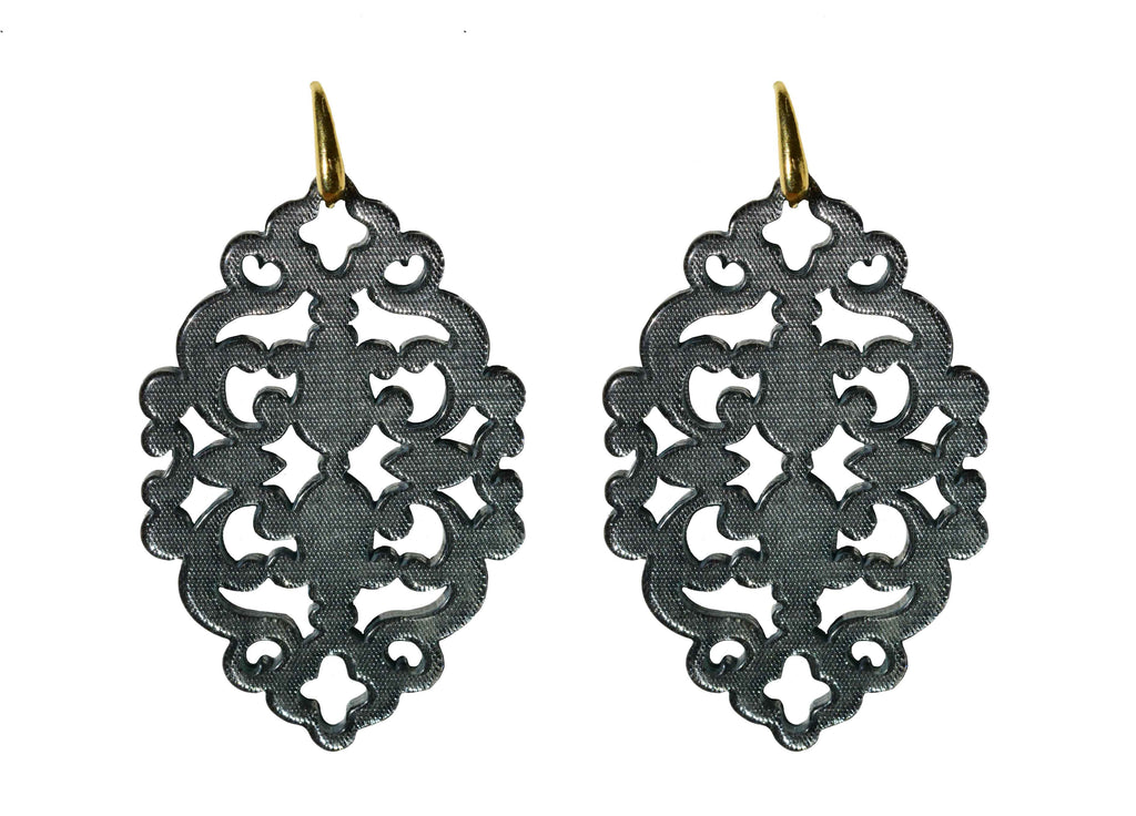 Azulejo Elephant Grey Bold | Resin Earrings
