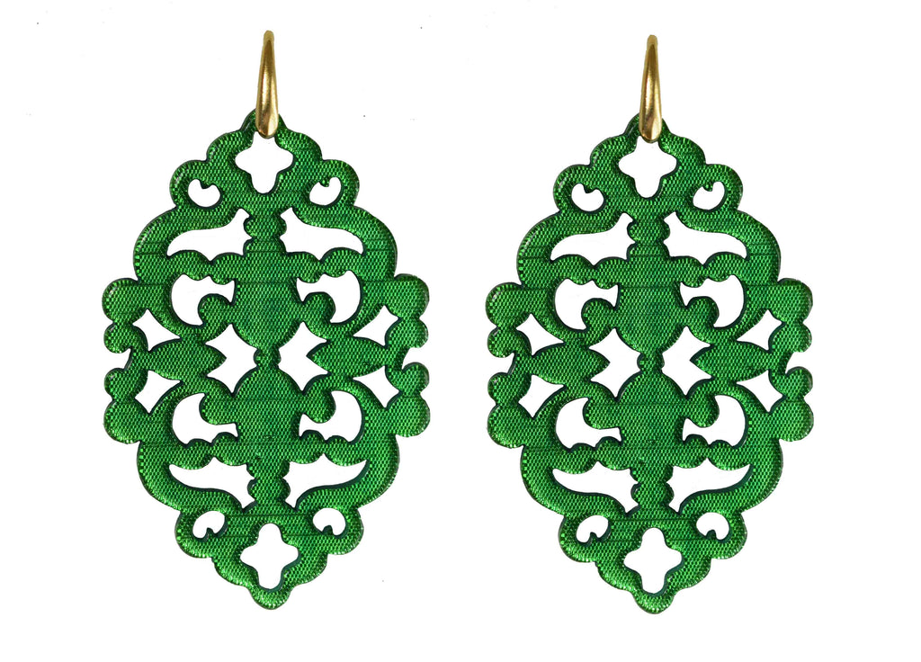 Azulejo Emerald Green Bold | Resin Earrings