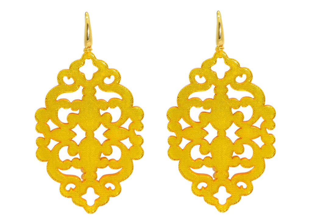 Azulejo Illuminating Yellow | Resin Earrings