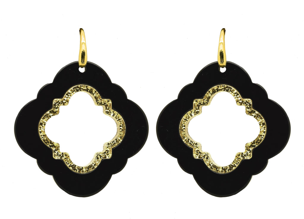 Black Caviar| Petite | Resin Earrings