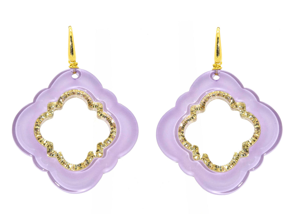Lilac Caviar| Petite | Resin Earrings