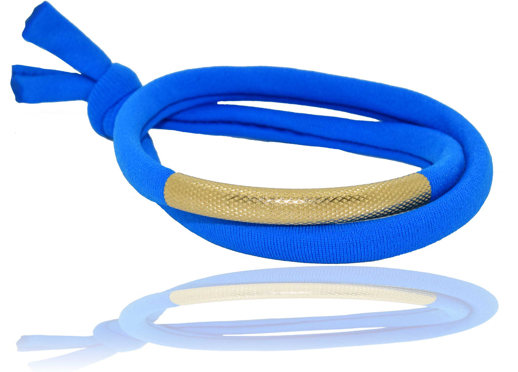 Electric Blue 14K Golden Tube Bracelet
