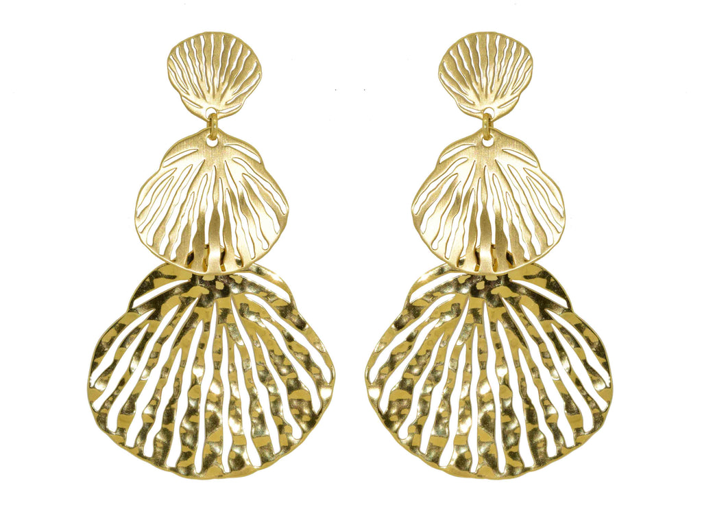 Concha | Gold Earrings